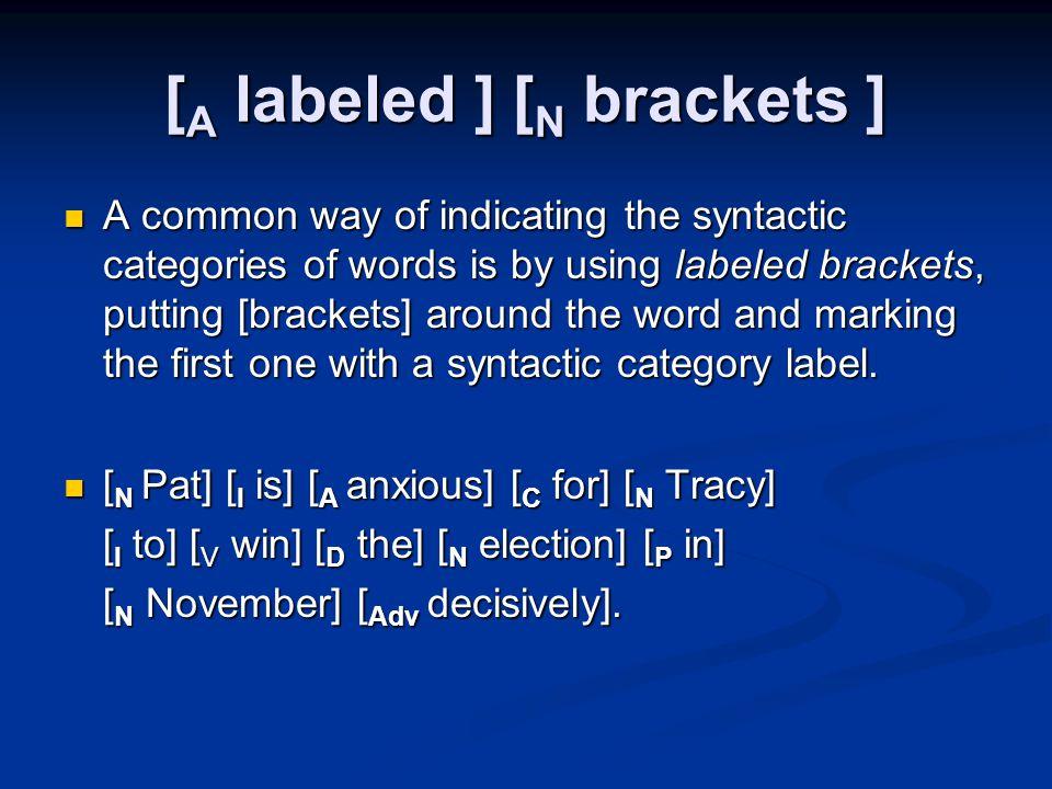 [A labeled ] [N brackets ]